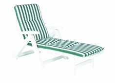 Best Charleston 96406909 Sun Lounger on Wheels with Cushion D.0269 White Charleston sun lounger on wheels, white, with padded cushion (product no. D. 0269)All-plastic sun lounger made from 100 % polypropylene; whiteThe backrest folds up completely and can also be adjusted to 5 different positionsIncludes 5 cm-thick padding with foam fillingThe cushion features a hard-wearing cover made from 50 % cotton and 50 % polyester