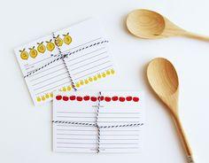 Fruit n Veg Printable Recipe Cards | DESIGN IS YAY!