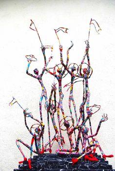 Astonishing Paper Sculptures of Jean-François Glabik -sculptures, sculptor, portraits, france, contemporary art, artist