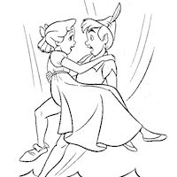 peter pan with jane coloring page