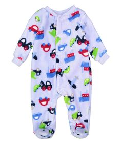 8f77715a2a957 Look at this Sweet & Soft Blue Fleece Bodysuit- Infant on #zulily today