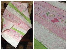 Handmade by Elaine Raggy pram blanket