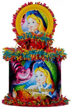 World of Pinatas - Alice in Wonderland Personalized Pinata, $39.99 (http://www.worldofpinatas.com/alice-in-wonderland-personalized-pinata/)