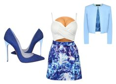 """""""blue is pretty"""" by dancer4life-325 ❤ liked on Polyvore featuring interior, interiors, interior design, home, home decor, interior decorating, Christian Louboutin and Jaeger"""