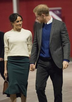 HRH Prince Harry of Wales with fiancee Meghan Markle visit Belfat, Northern Ireland. March 23, 2018