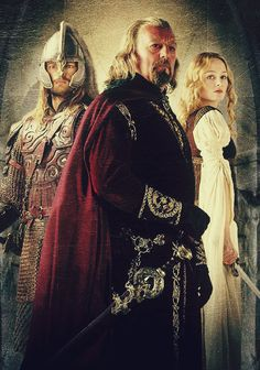 with these three, you can't help but love the Rohirrim. My three most favorite characters in the movies