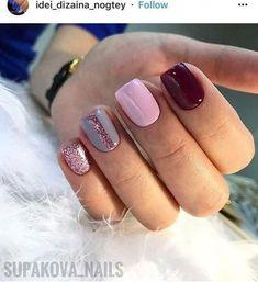 Nail art Christmas - the festive spirit on the nails. Over 70 creative ideas and tutorials - My Nails Get Nails, Fancy Nails, Love Nails, Trendy Nails, Pink Nails, Shellac Nails, Acrylic Nails, Nail Polish, Nail Nail