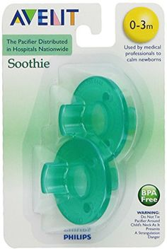 Philips 2 Pack AVENT Soothie Pacifier, Green, 0-3 Months Phillips' http://www.amazon.com/dp/B0045I6IAO/ref=cm_sw_r_pi_dp_ug7xub1NT3SB4