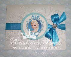 Detallitos.papel Invitaciones y recuerdos Scrapbook: Invitaciones Frozen - Una aventura congelada