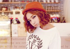 단발머리이신 고민녀에게 추천 할만한 예쁜 단발머리 사진 6, 발랄한 오렌지좋은 것 같아요