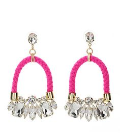 Pink crystals earrings