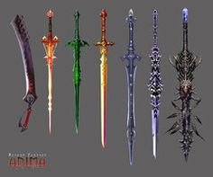 Risultati immagini per cool swords Swords And Daggers, Knives And Swords, Sword Fantasy, Fantasy Armor, Fantasy Dagger, Magic Sword, Espada Anime, Rpg Pathfinder, Cool Swords