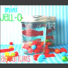 Cute kid project - jello mini aquarium