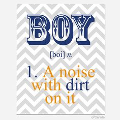 Boys Quote Print Chevron Wall Art  Boy a Noise With by ofCarola, $15.00