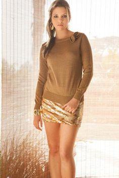 Chompa Laura by NICOLE FERRAND en www.trendit.pe #sweater #clothing #gold