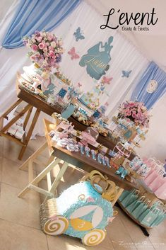 Andrea L's Birthday / Cinderella - Photo Gallery at Catch My Party 2nd Birthday Party Themes, Second Birthday Ideas, First Birthday Parties, Birthday Party Decorations, First Birthdays, Party Favors, Cinderella Party Decorations, Cinderella Quinceanera Themes, Girl Baby Shower Decorations