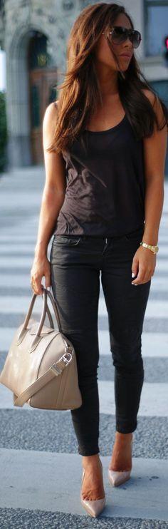 Lindex Black Coated Skinnies