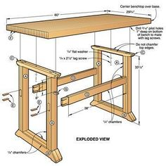 Simple Woodworking Bench Plans Please visit my woodworking auctions website at www.WoodworkerPlans.org/woodworking_auctions for more woodworking information and auction deals. #WoodworkingPlansWorkbench #woodworkingbench