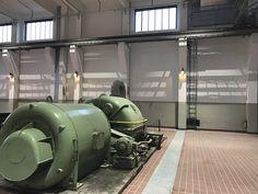 An beiden Enden der Grand Hall stehen einige dieser Original-Maschinen, die die Geschichte der Halle spürbar machen.