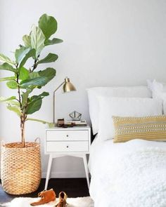 Nine refreshing ways to use plants in the home. Interior design ideas for bringing greenery inside. Great home decor inspiration with potted houseplants.