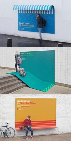 I often think of billboards in their traditional form; boring rectangles you can barely catch a glimpse of as you speed by in a car. However, these billboard designs are totally eye catching; some even interactive.