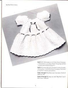 Her First Visit to Santa Dress free crochet pattern