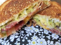 Bacon Guacamole Grilled Cheese Sandwhich. Pickett/Johnson household favorite as of last night!