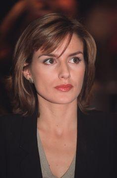 Letizia Ortiz Rocasolano, durante su etapa como periodista en la cadena CNN.