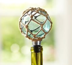 Sea Glass Rope Bottle Stopper | Pottery Barn