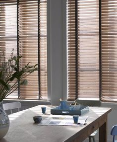 Country Woods ® Collection Art Wood by Hunter Douglas Roman Blinds, Curtains With Blinds, Blinds For Windows, Natural Blinds, Blinds Inspiration, Store Venitien, Types Of Window Treatments, Custom Blinds, Faux Wood Blinds