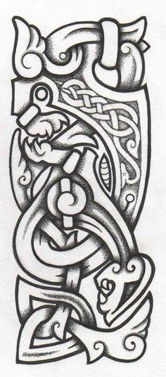 Celtic knot Norse Tattoo, Inca Tattoo, Tattoo On, Celtic Tattoos, Viking Tattoos, Indian Tattoos, Wiccan Tattoos, Viking Symbols, Viking Art