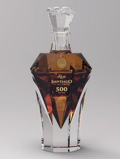 Ron Santiago de Cuba 500 - Cuba Ron Corporation S. Bottle designed and produced by HumidifGroup Wine And Liquor, Wine And Beer, Mini Liquor Bottles, Rum Bottle, Whiskey Bottle, Ocean Bottle, Alcohol Bottles, Perfume Bottles, Cigars And Whiskey