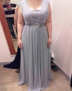 Long Silver Sequin Beads Bridesmaid Dresses