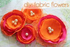 DIY Flowers DIY Hair Pins DIY Crafts DIY fabric flower hair pins DIY Barrettes