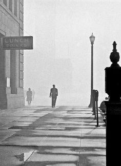 """Embarcadero Lunch"" - San Francisco - 1948 - photographer Fred Lyon."