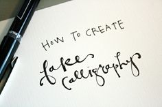 The Vintage Lemon: font love {friday}: how to create faux calligraphy