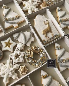Lorena Rodríguez. White Christmas cookies. Deer cookie