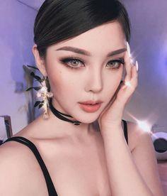 Asian makeup by Makeup Trends, Makeup Inspo, Beauty Makeup, Eye Makeup, Asian Makeup, Korean Makeup, Korean Beauty, Park Hye Min, Pony Korean