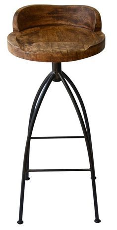 @Mom Boyd Blue HINKLEY swivelling bar stool. Rustic industrial. Love this and I don't even have a bar!