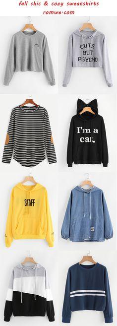 fall chic sweatshirts - romwe.com
