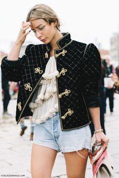 Black jacket with golden details