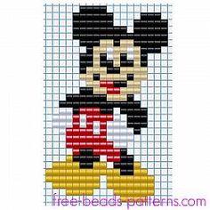 Snowman Cross Stitch Pattern, Disney Cross Stitch Patterns, Cross Stitch Tree, Mickey Mouse, Bead Loom Patterns, Beading Patterns, Disney Quilt, Perler Bead Disney, Hama Beads Design