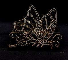 Butterfly (side view) Handmade Indonesian Copper Tjap at http://www.artisticartifacts.com