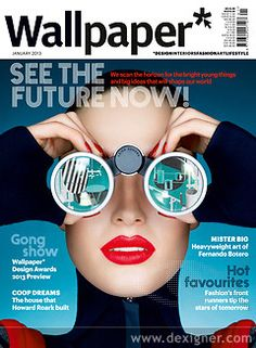 Wallpaper Magazine Cover January 2013: SEE THE FUTURE NOW!