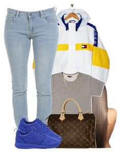 """5/12/16"" by yasnikki ❤ liked on Polyvore featuring Tommy Hilfiger, Louis Vuitton and NIKE"