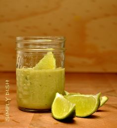 Creamy Dairy-Free Coconut Lime Dressing with Avocado - naturally vegan, paleo and top food allergy-friendly!