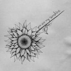 Tattoo Sunflower Black And White Stems 59 Super Ideas Sunflower tattoo – Top Fashion Tattoos Sunflower Tattoo Sleeve, Sunflower Tattoo Shoulder, Sunflower Tattoo Small, Sunflower Tattoos, Sunflower Drawing, Flower Sleeve, Trendy Tattoos, Cute Tattoos, Small Tattoos