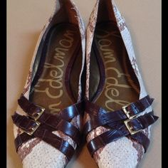 Sam Edelman Leather Flats These cute little flats have not been worn. In excellent shape. Leather. Leather buckles. Sam Edelman Shoes Flats & Loafers