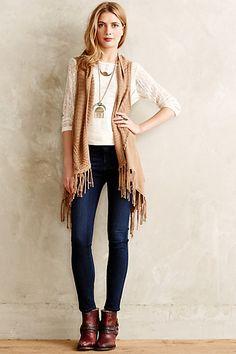 Antrhopologie Temescal Fringe Vest #fringe #vest #sweater