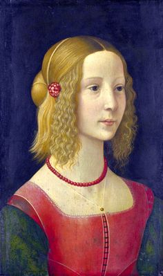 "Domenico Ghirlandaio workshop, ""Portrait of a Girl"""